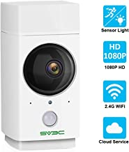 Wireless Security Camera SV3C WiFi Camera Indoor,Pet Camera 1080P,360-degree Nanny Cam for Baby/Elder/Puppy,Motion Tracking,Color Night Vision Sensor Light,Two-Way Audio,Support SD Card/Cloud/Alexa