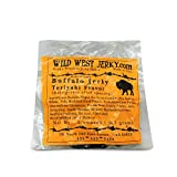 #1 BEST Premium 100% Natural Grass Fed Hand Stripped 2 OZ. Thick Cut Delicious Tasty Bold Flavor Buffalo Jerky – Wood Smoked by Wild West Jerky (Teriyaki, Buffalo Teriyaki 1 Pack)