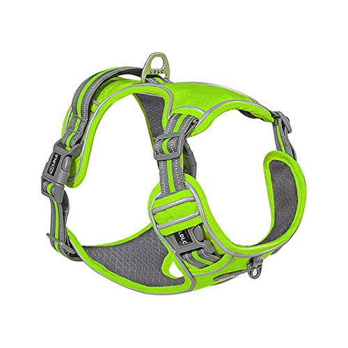 LDLC No Pull Dog Harness, Scratch-Resistant Oxford Material Outer Layer, Breathable Mesh Fabric Lining, Reflective Dog Vest Harness, Easy to Put on and take Off for Small Medium Dogs