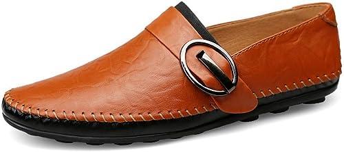 EGS-schuhe Wildleder Herren Lederschuhe Lederschuhe Lederschuhe Fahrschuhe Leder Herrenschuhe Flache Freizeitschuhe,Grille Schuhe (Farbe   rot braun, Größe   44)  Schnelle Lieferung und kostenloser Versand für alle Bestellungen