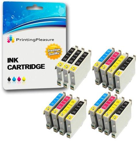 15 Druckerpatronen für Epson Stylus C64, C66, C66 Photo Edition, C68, C84, C84N, C84WN, C86, CX3600, CX3650, CX4600, CX6400, CX6600 | kompatibel zu Epson T0441, T0442, T0443, T0444 (T0445)