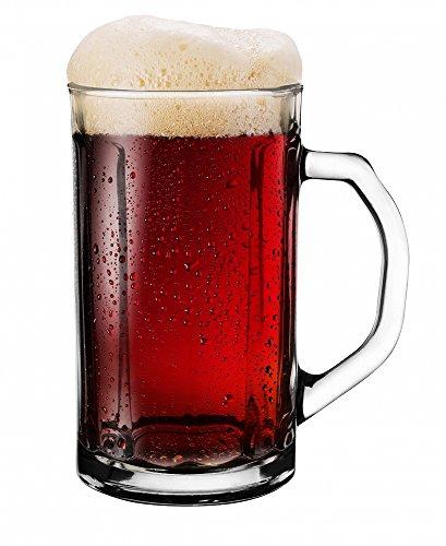 Sables & Reflets 4 Verres à bière Choper/Chope de bière/Traditionnelle 500 ML