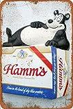 Generic Brands Hamm's Beer Bear Poster Zinn Wandschild