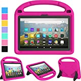 TIRIN All-New Fire HD 8 Case 2020, Kindle Fire HD 8 Tablet Case 10th Generation Lightweight Shockproof Handle with Stand Kid-Proof Case for Fire HD 8 Tablet & Fire HD 8 Plus 2020 Release - Rose
