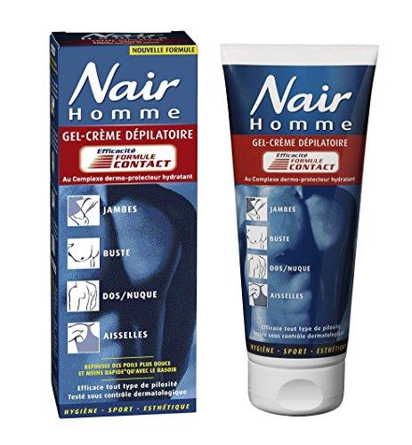 Nair - Crème Dépilatoire - Gel-Crème Formule Contact pour Homme - Tube 200 ml + Spatule