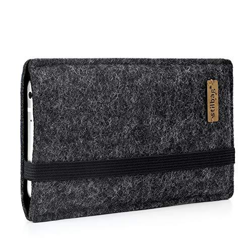 stilbag Handyhülle Finn für Sony Xperia L3   Farbe: anthrazit/schwarz   Smartphone-Tasche aus Filz   Handy Schutzhülle   Handytasche Made in Germany
