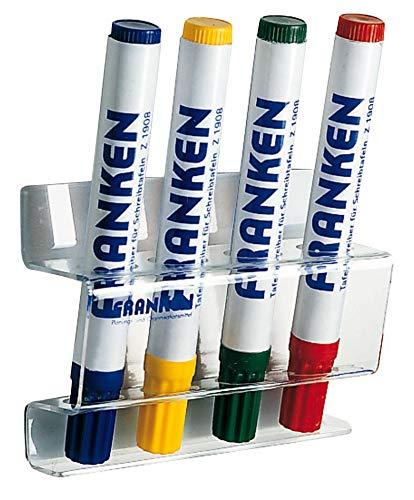 Franken Z1981 Tafelschreiber-Halter für 4 (Acryl magnetisch) transparent