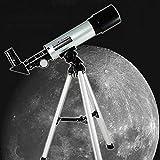 Telescopio Práctico F36050 Telescopio, Telescopio Refractor Astronómico Espacial para Adultos, Niños, 60 Veces, TSJ