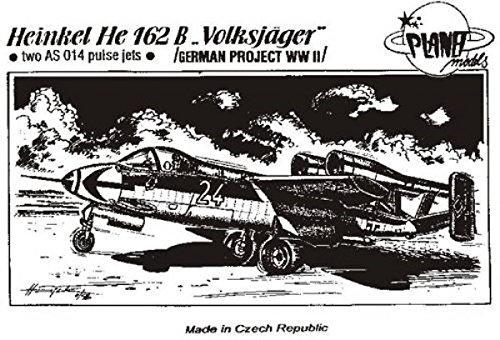 Planet Models CM-72 009  Modellbausatz Heinkel He-162 B Volksjäger Zwei AS 044 Triebwerken.