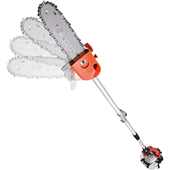 MAXTRA Gas Powered Pole Saw, 90-180 Rotatable Cordless Extension Chainsaw for Tree Trimming with 3.6ft Extension Pole Reach to 16 feet for Tree Limb Branches Pruning