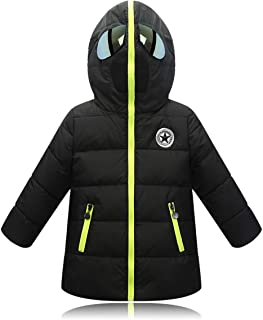 Plustrong Kids Boys Girls Toddler Winter Coats Warm Hooded Spiderman Puffer Jacket