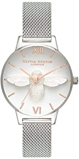 Olivia Burton Womens Quartz Watch, Analog Display and Stainless Steel Strap OB16AM146