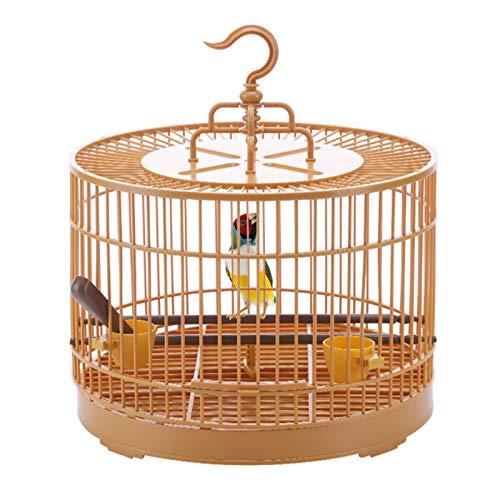 Mimei Mini-Vogelkäfig Retro-Stil Tragbare Runde Atmungsaktiv Faltbare Anti-Drop-Vogelfutter-Dispenser Bird Carrier Für Die Reise Polite