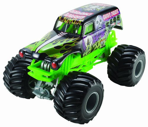 Hot Wheels Monster Jam Grave Digger Die-Cast Vehicle, 1:24 Scale