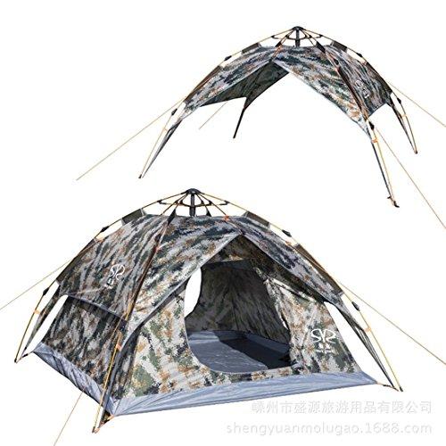 Tenda pop-up/camouflage tende & 3–4persone Outdoor alpinismo campeggio automatico impermeabile a doppia tende/Sunshine campeggio conto
