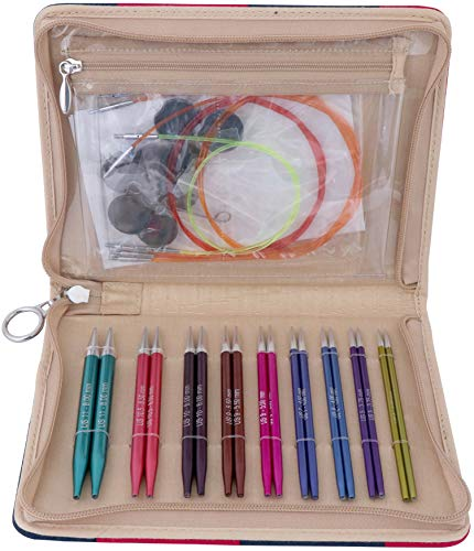 Knitter's Pride Zing Deluxe Interchangeable Needles Set, Multi