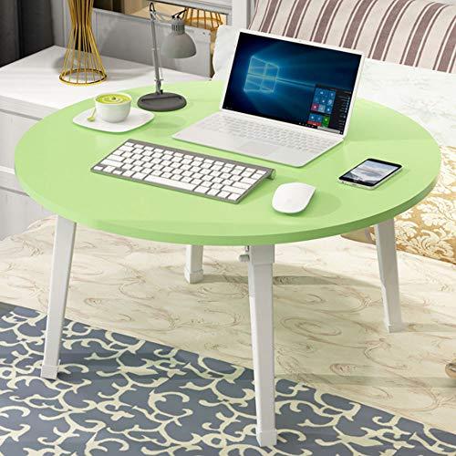 Laptop Bureau, Houten Notebook Bureau voor Bed, met Foot Pad en Opvouwbaar ontwerp, voor slaapzaal slaapkamer en woonkamer,Green