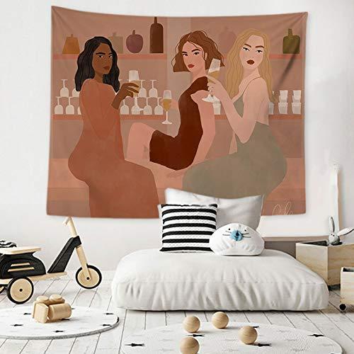 KHKJ Tapiz de Dibujos Animados para Colgar en la Pared, Tapiz para Colgar en la Pared para niña, Dormitorio, hogar, Dormitorio, Manta Decorativa para Pared A13, 200x180cm