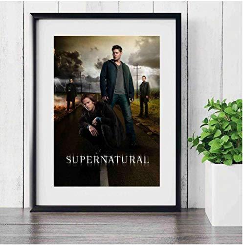 Hanyyj Póster Supernatural TV Play Series Impresiones Lienzo Arte Pintura Cuadros De Pared para Decoración De Sala De Estar 40X60Cm Sin Marco