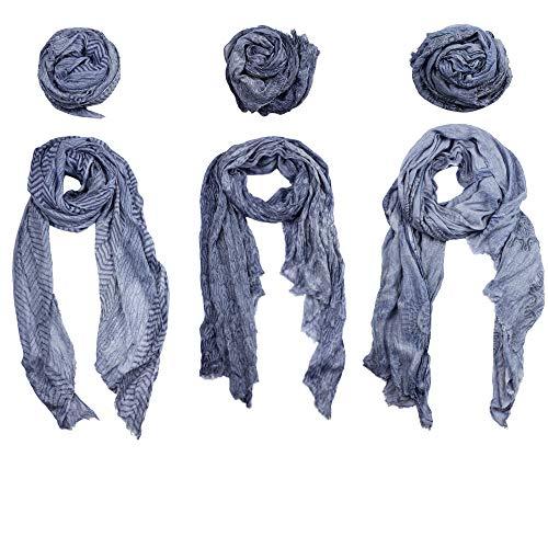 Sunsa dames sjaal/heren doek winter halsdoek herensjaal XXL doeken cadeau-ideeën voor vrouwen en mannen. Scarfs for Women/Men. Pashmina, set van 3 topmaten, schouderdoeken, wintersjaal, Vero Moda