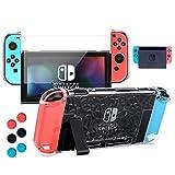 Nintendo Switch Hülle, Transparent Schutzhülle für Nintendo Switch mit Gehärtetem Displayschutz...