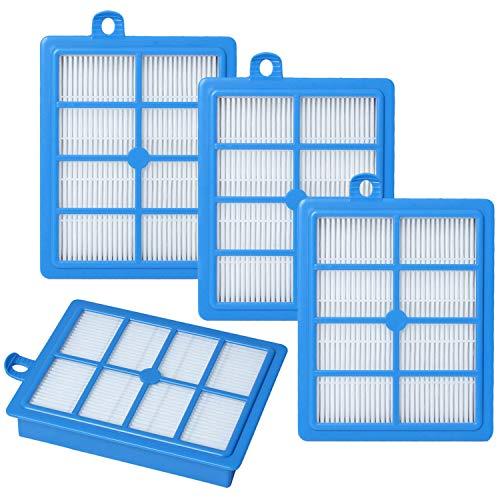 Poweka HEPA13 Lot de 4 filtres de rechange pour aspirateur Phi-Lips FC8038/01 Compatible AEG/Electrolux/Tornado/Volta