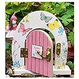 Wooden Opening Fairy Door for Tree, Fairies Miniature Garden Doors Outdoor Fairy Garden Supplies for Fairy Tale Education Learning Toy Pretend Playset (Door)