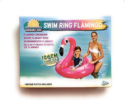 store ZD Aufblasbarer Flamingo Schwimmring Luftmatratzen schwimmen Rosa 106 cm Dm. Schwimmsitz Strand Wasserspielzeug