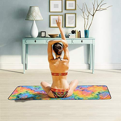 Xlabor Mikrofaser Yogatuch Handtuch mit Antirutsch Noppen Yogamattenauflage Unterlage Towel für die Yogamatte Motiv-D