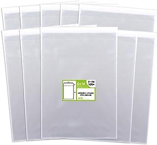 【国産】テープ付 B4【 B4用紙・ポスター用 / 角1封筒 】透明OPP袋(透明封筒)【1000枚】30ミクロン厚(標準)270x380+40mm