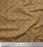Soimoi Braun Samt Stoff Büroklammer Hemdenstoff gedruckt