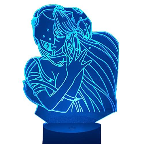 Lâmpada noturna de LED de acrílico, Anime Elfen Lied Lucy NYU Figura de mesa 3D para quarto de crianças, luz noturna, presente de mangá