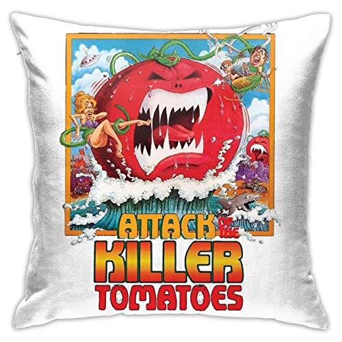 XCNGG El Ataque de los Tomates Asesinos, cojín extraíble y Lavable, Almohada Cuadrada, Junto a la Cama, Sala de Estar, sofá, Oficina, Almohada para la Cintura sin núcleo