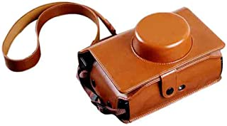 Forusky PUレザーインスタントカメラケースバッグLomo'Instant Wide Camera - Brown
