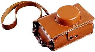 Forusky Vintage PU Leather Camera Shoulder Case Bag for Lomo'Instant Wide Camera - Brown