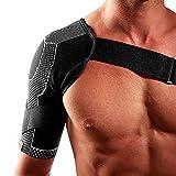 McDavid 4 Way Elastic Shoulder Wrap, Small, Black