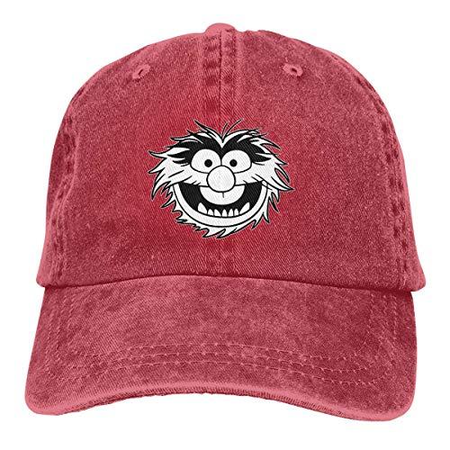 RFTGB Gorras Unisex Accesorios Sombreros Gorras de béisbol Sombreros de Vaquero Muppet Animal Decal Denim Baseball Cap, Unisex Vintage Dad Hat, Golf Hats, Adjustable Plain Cap