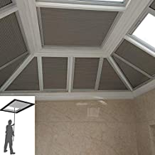 Manual/Motorized Skylight Roof Window Cellular Honeycomb Blackout Blinds Curtain,Website Price=(1pc,Manual Control,Size:39...