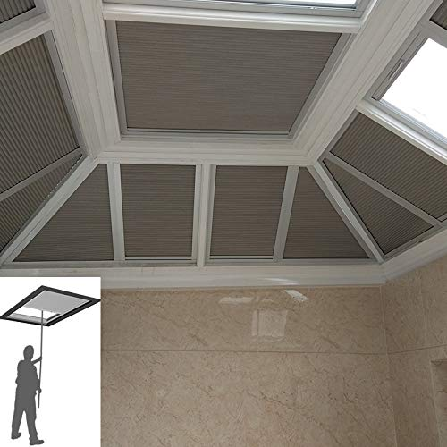 """Manual/Motorized Skylight Roof Window Cellular Honeycomb Blackout Blinds Curtain,Website Price=(1pc,Manual Control,Size:39"""" W x 39"""" L) Contact Us Customize Size,Or Motorized Power110-240V"""