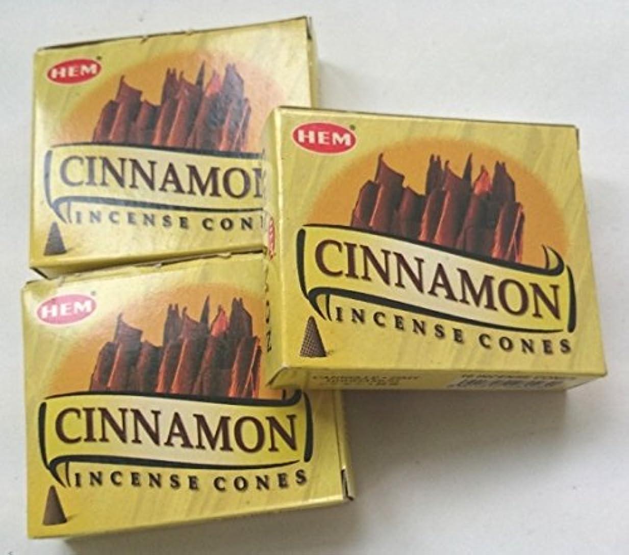 気取らないほんのソースHEM(ヘム)お香 シナモン コーン 3個セット