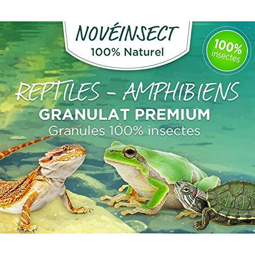 novealand - Nourriture Pour Reptiles, tortue, salamandres, grenouilles granules 100% insectes - 110 grammes - GR2-110-LEZ