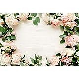 Fondo de vinilo de madera para fotografía de la tabla de primavera de la flor de la comida de la mascota Retrato Fotográfico Fondo de estudio fotográfico A9 10 x 10 pies / 3 x 3 m