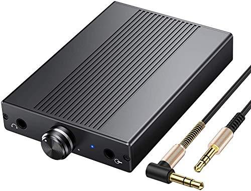PROZOR Kopfhörerverstärker 3,5 mm HiFi-Audioverstärker Unterstützt Impedanz 16-150 Ω Tragbarer DAC-Verstärker Wiederaufladbarer Kopfhörerverstärker für MP3 MP4 Players Digital Player Computer