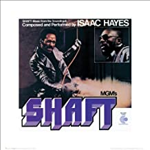 Shaft Movie Film Soundtrack Album Cover Isaac Hayes Soul Music Icon Poster Print 16x16