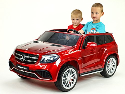 RC Auto kaufen Kinderauto Bild 4: Allrad f 2 Kinder XXL Kinderelektroauto kinderauto Mercedes GLS 63 4x4 gefedert Zweisitzer Kinderelektrofahrzeug 12V Jeep Offroader*