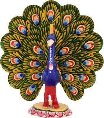 The Hue Cottage Tanzen Pfau Prunkstück indisch Handgemacht weiß Metall Vogel-Figur Dekorative Skulptur Geschenke Artikel Dekor