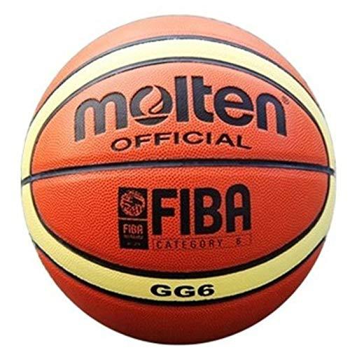 dingtian Ballon de Baloncesto Size6 Molten Basketball Gg6, PU Materi Baloncesto Femenino