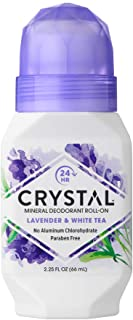 Crystal Mineral Deodorant Roll-On, Lavender & White Tea 2.25 oz (Pack of 12)