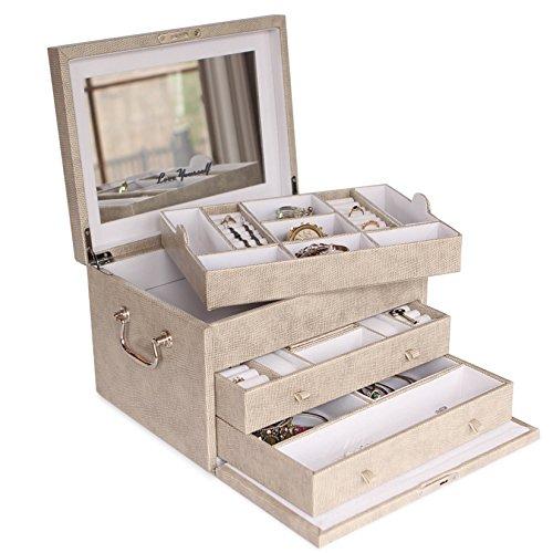 Vegan Leather Jewelry Box Organizer by Case Elegance