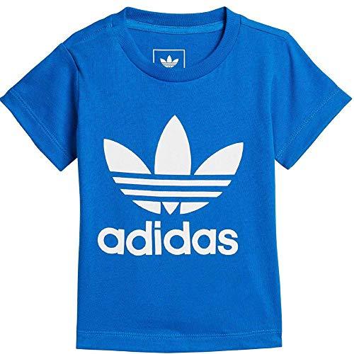 adidas I TRF Camiseta, Unisex bebé, Azul/Blanco, 74-6/9 Meses
